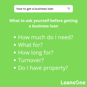 What to ask yourself before getting a business loan